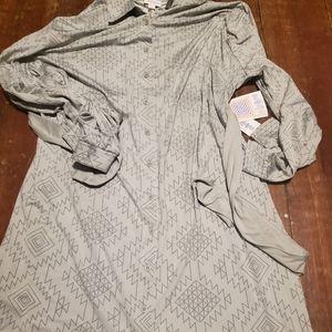 NWT lularoe 3xl grey ellie dress